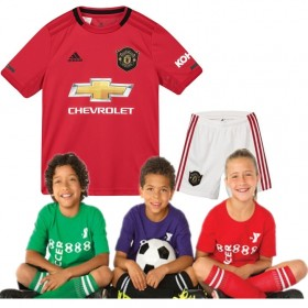 Kid's Manchester United Home Suit 19/20 (Customizable)