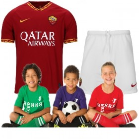 Kid's AS Roma Home Suit 19/20 (Customizable)
