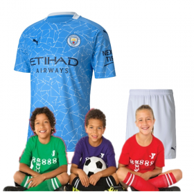 Kid's Manchester City Home Suit 20/21(Customizable)