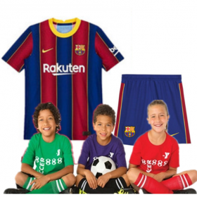 Kid's Barcelona Home Suit 20/21 (Customizable)