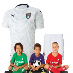 Kid's 2020 Euro Cup Italy  Away Suit (Customizable)