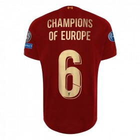 Liverpool LFC Mens Home European Shirt 19/20 - Champions Of Europe #6