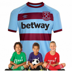 kid's West Ham United Away Jersey 20/21 (Customizable)