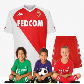 kid's Jeresys AS Monaco Home Jersey 20-21(Customizable)