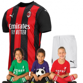 Kid's AC Milan Home Suit 20/21 (Customizable)