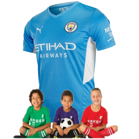 Kid's Manchester City Home Suit 21/22(Customizable)