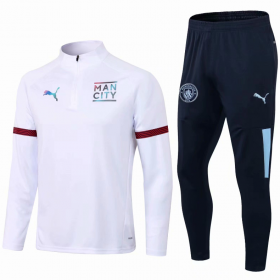21/22 Manchester City Training Suit White